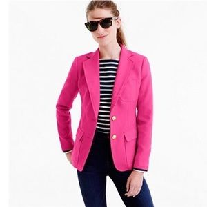 J.Crew Pink Rhodes In Italian Wool Blazer